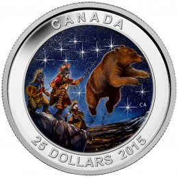 2015 Canadian $25 Star Charts: The Great Ascent - Fine Silver Coin (Glow-in-the-Dark)