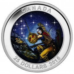 2015 Canadian $25 Star Charts: The Wounded Bear - Fine Silver Coin (Glow-in-the-Dark)