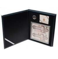 1996 Special Edition Silver 2 Dollar Piedfort Coin and Banknote Set