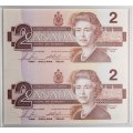 1996 Canadian $2 Dollar Piedfort Silver Coin and BRX Banknote Special Edition Set