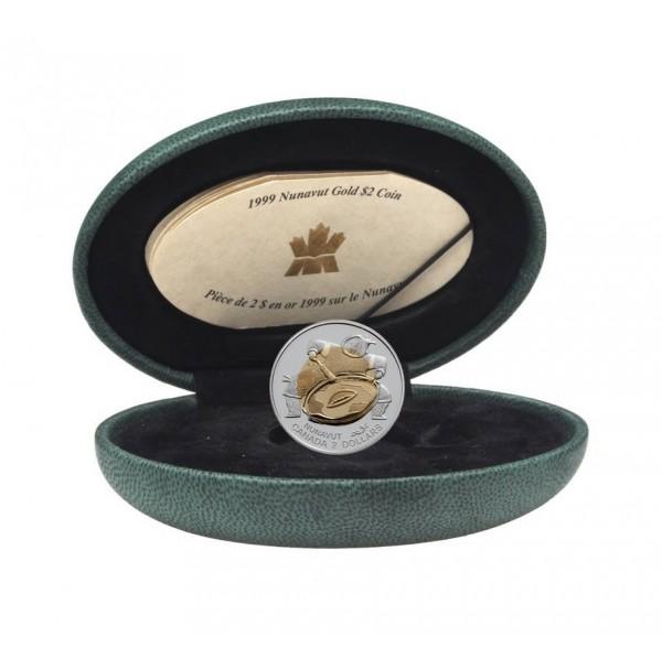 1999 Proof 2 Dollar Gold Coin - Nunavut