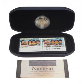1999 Canada $2 Coin & Stamp Commemorative Collection - Nunavut
