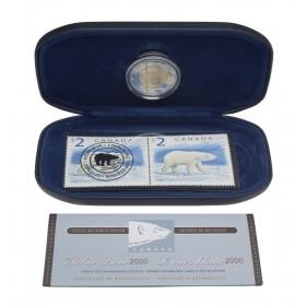 2000 2 Dollar Coin & Stamp Set - Polar Bear