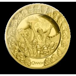 2009 Canada 14-karat Gold $300 Coin - Olympic Friendship