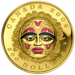 2009 Canada 14-karat Gold $300 Coin - Summer Moon Mask