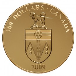 2009 Canada 14-karat Gold $300 Coin - Yukon Coat of Arms