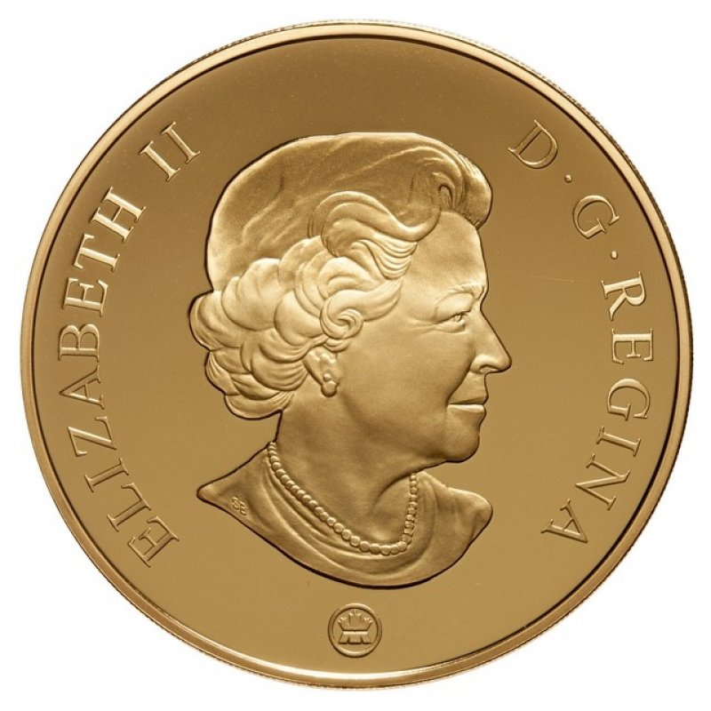 2009 Canada 14 Karat Gold 300 Coin Yukon Coat Of Arms