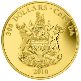 2010 Canada 14-karat Gold $300 Coin - British Columbia Coat of Arms
