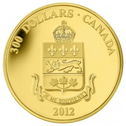 2012 Canada 14-karat Gold $300 Coin - Quebec Coat of Arms