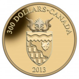 2013 Canadian $300 Northwest Territories Coat of Arms - 14-karat Gold Coin