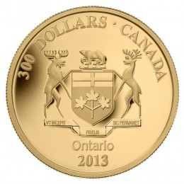2013 Canadian $300 Ontario Coat of Arms - 14-karat Gold Coin