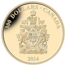 2014 Canadian $300 Canada Coat of Arms - 14-karat Gold Coin