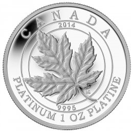 2014 Canadian $300 Maple Leaf Forever - 1 oz Fine Platinum Coin