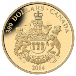 2014 Canadian $300 Saskatchewan Coat of Arms - 14-karat Gold Coin