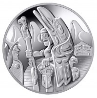 2005 Sterling Silver 30 Dollar Coin - Totem Pole