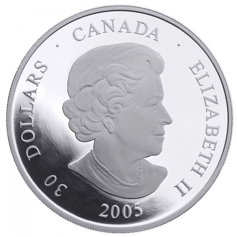 2005 Canadian 30 Welcome Figure Totem Pole Proof Sterling