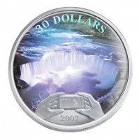 2007 Sterling Silver 30 Dollar Coin - Panoramic Photography in Canada, Niagara Falls
