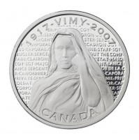 2007 Sterling Silver 30 Dollar Coin - Canadian National Vimy Memorial