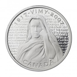 2007 (1917-) Canadian $30 War Memorials: National Vimy Memorial Proof Sterling Silver Coin