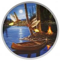 2015 Fine Silver 30 Dollar Coin - Moonlight Fireflies (Glow-in-the-Dark)