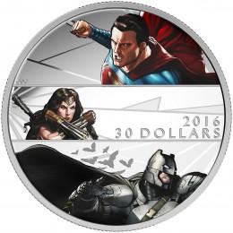 2016 Canadian $30 Batman v Superman: Dawn of Justice™ - 2 oz Fine Silver Coin