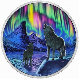 2016 Canada Fine Silver $30 Coin - Northern Lights in the Moonlight
