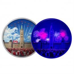 2017 Canada Fine Silver $30 Coin - Celebrating Canada (Glow-In-The-Dark)
