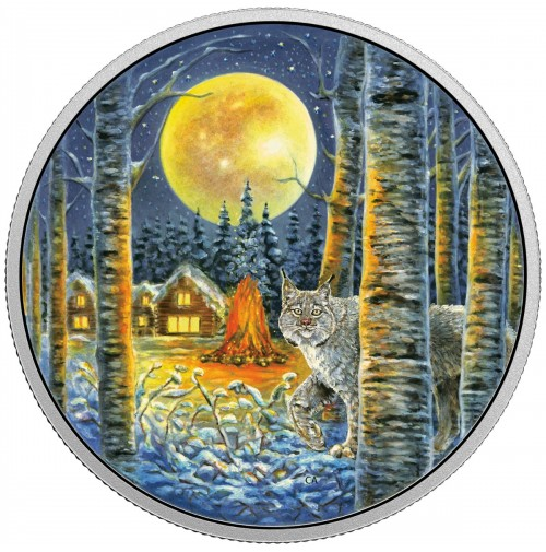2017 Fine Silver 30 Dollar Coin - Animals in the Moonlight: Lynx