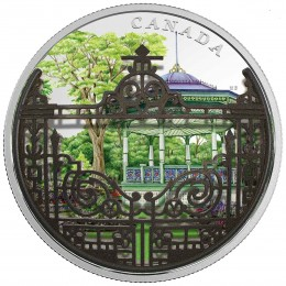 2018 Canadian $30 Gates: Halifax Public Gardens 2 oz Fine Silver Convex Coloured Coin
