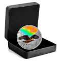 2019 Canadian $30 Majestic Birds in Motion: Golden Eagles - 2 oz Fine Silver Hologram Coin