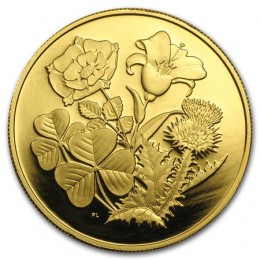 1998 Canada Pure Gold $350 Coin - Rose, Lys, Thistle & Shamrock