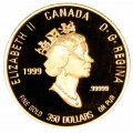 1999 Canadian $350 PEI Lady's Slipper .99999 Pure Gold Coin