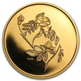 2002 Canada Pure Gold $350 Coin - Alberta Wild Rose