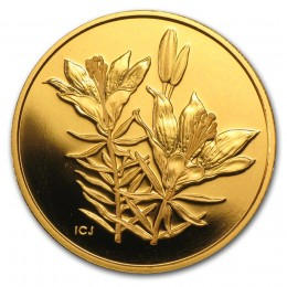 2005 Canada Pure Gold $350 Coin - Western Red Lily