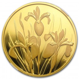 2006 Canadian $350 Provincial Flowers: Iris Versicolor/The Blue Flag 99.999% Pure Gold Coin