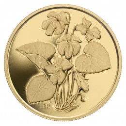 2007 Canadian $350 Provincial Flowers: Purple Violet 99.999% Pure Gold Coin
