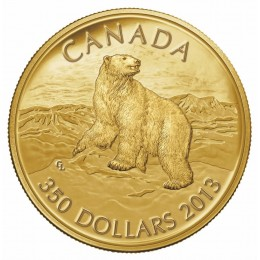 2013 Canadian $350 Iconic Polar Bear 99.999% Pure Gold Coin