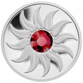 2011 Canada Fine Silver $3 Coin - Birthstone Collection: July, Ruby