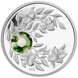 2012 Canada Fine Silver $3 Coin - Birthstone Collection: August, Peridot