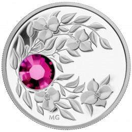 2012 Canada Fine Silver $3 Coin - Birthstone Collection: January, Garnet