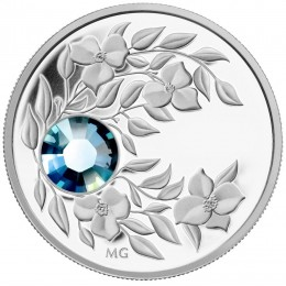 2012 Canada Fine Silver $3 Coin - Birthstone Collection: March, Aquamarine