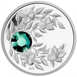 2012 Canada Fine Silver $3 Coin - Birthstone Collection: May, Emerald