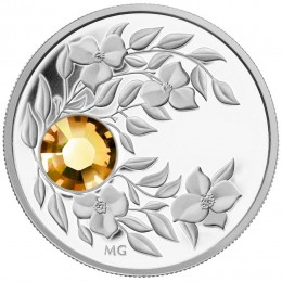 2012 Canada Fine Silver $3 Coin - Birthstone Collection: November, Topaz