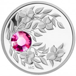2012 Canada Fine Silver $3 Coin - Birthstone Collection: October, Tourmaline