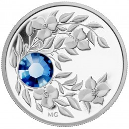 2012 Canada Fine Silver $3 Coin - Birthstone Collection: September, Sapphire