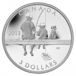 2013 Canada Fine Silver $3 Coin - Fishing