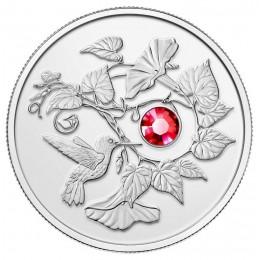 2013 Canada Fine Silver $3 Coin - Hummingbird & Morning Glory