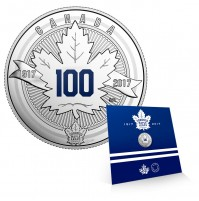 2017 Canada Fine Silver 3 Dollar Coin - The Toronto Maple Leafs®: Anniversary Logo