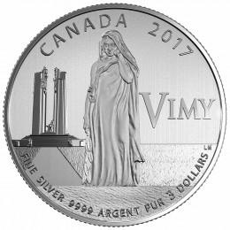 2017 Canada Fine Silver $3 Coin - 100th Anniversary of the Battle of Vimy Ridge