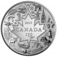 2017 Canada Fine Silver 3 Dollar Coin - Heart of Our Nation